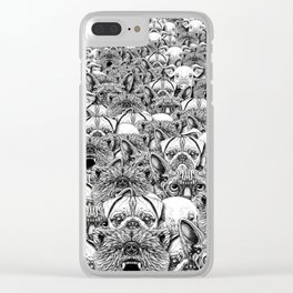 Animal Crowd Clear iPhone Case