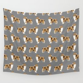 Rough Collie pet portrait custom dog breed gifts for collie owner by pet friendly Wall Tapestry