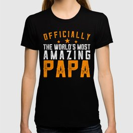 Officially Amazing Papa Fathers Day Gift Idea T-shirt
