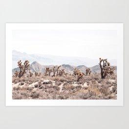 Joshua Tree // Vintage Desert Landscape Cactus Southwest Mountains Art Print