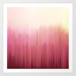 Soft Pink Woods Art Print