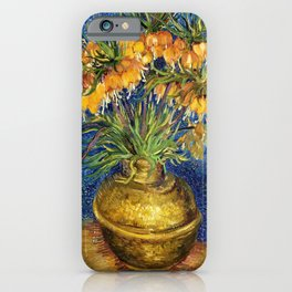Vincent van Gogh - Imperial Fritillaries In A Copper Vase - Digital Remastered Edition iPhone Case
