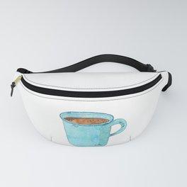 Blue Enamel Coffee Mug Fanny Pack