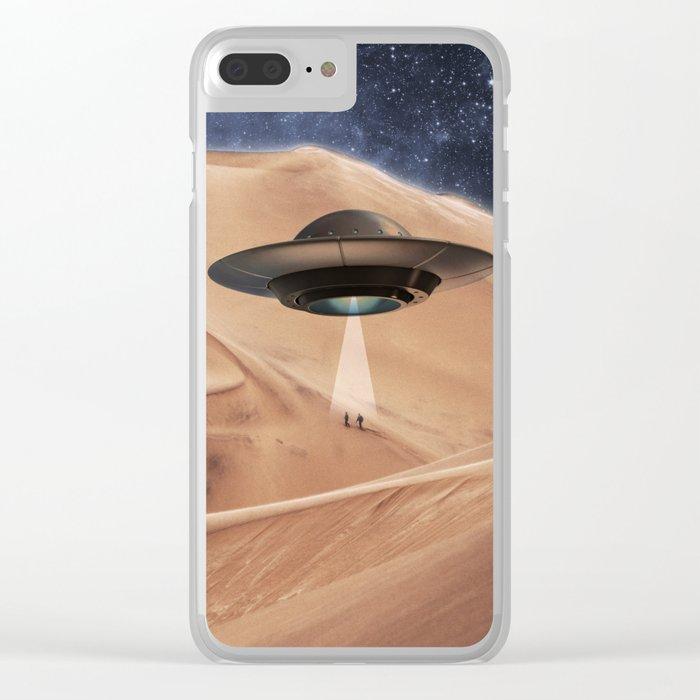ALIEN DESERT ABDUCTION Clear iPhone Case