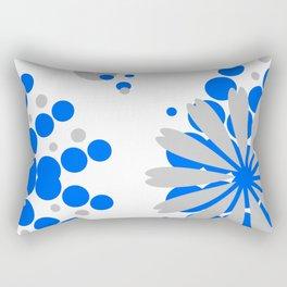 Blue Grey Burst Rectangular Pillow