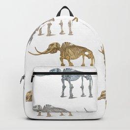 Mastodon skeleton - pattern Backpack