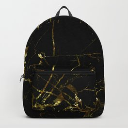 Golden Marble - Black and gold marble pattern, textured design Backpack