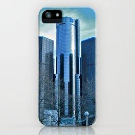 Detroit Renaissance Center (Ren Cen) GM Headquarters iPhone Case