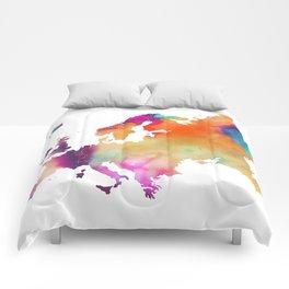 Europe map 2 Comforters