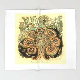 Aztec Collection: The Seven Caves of Chicomoztoc Throw Blanket