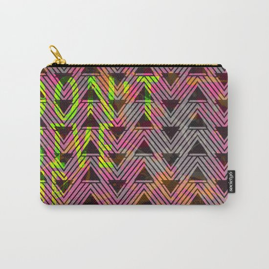 Don't Give Up Quote with Geometric Triangle Pattern Carry-All Pouch