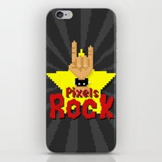 Pixels Rock iPhone & iPod Skin