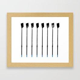 Rowing Oars 1 Framed Art Print