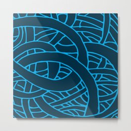 Microcosm in Blue Metal Print