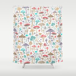 Toadstools and Mushrooms Shower Curtain