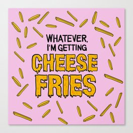 Cheese Fries Canvas Print