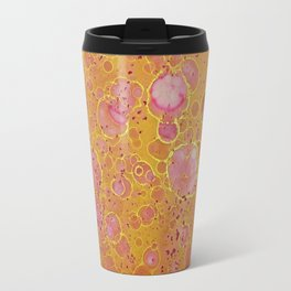 Magenta Gold Mottled Travel Mug