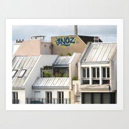 Rooftops of Paris 1 Art Print