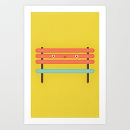 Bench Chair Art Print