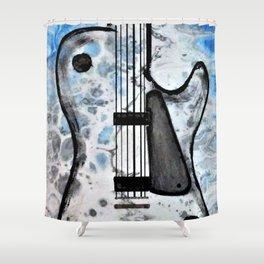 Guitar Art. Abstract Guitar. Rock and Roll. Gibson Guitar. Shower Curtain