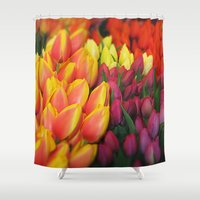 tulips Shower Curtains featuring Tulips by Bizzack Photography