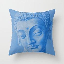 Siddharta Gautama blue Throw Pillow