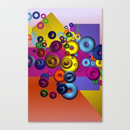 rings and tori -1- Canvas Print