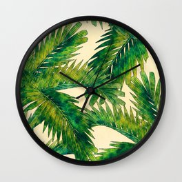 Palms #palm #palms #flower Wall Clock