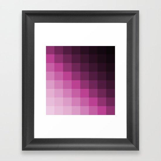 Pixel Gradient Framed Art Print