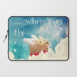 When Pigs Fly Laptop Sleeve