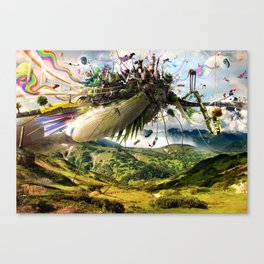Fleeing Creativity (surreal) Canvas Print