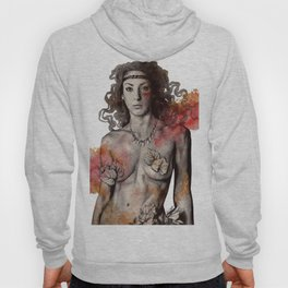 Colony Collapse Disorder (topless warrior woman with leaves on nude breasts) Hoody