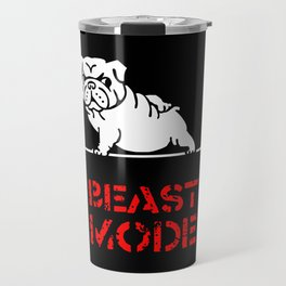 Beast Mode English Bulldog Travel Mug