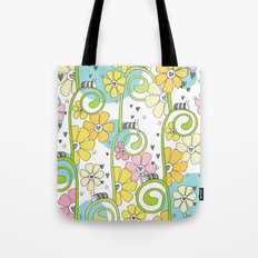 Hanging Out In The Garden With My Friends Tote Bag