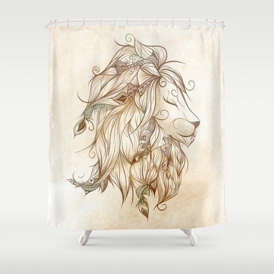 Poetic Lion Shower Curtain