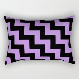 Black and Lavender Violet Steps LTR Rectangular Pillow