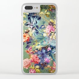 Happy Bohemian Floral Clear iPhone Case