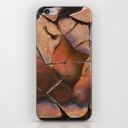The Pears Fresco With a Crackle Finish #Society6 iPhone Skin