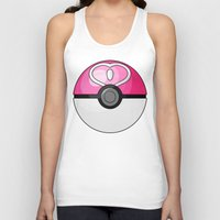 pokeball Tank Tops featuring Love Pokeball by Amandazzling