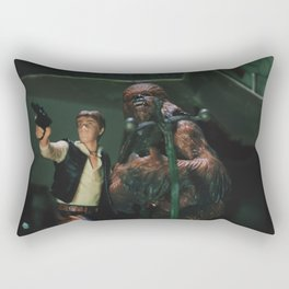 Hokey religions and ancient weapons are no match for a good blaster at your side Rectangular Pillow