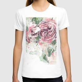 Abstract roses T-shirt