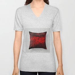 Dark Red Throw Pillow Art Print 3.0 #postmodernism #society6 #art Unisex V-Neck