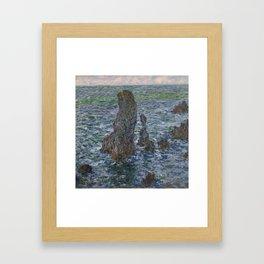 The 'Pyramids' of Port Coton, Belle-Ile-en-Mer Framed Art Print