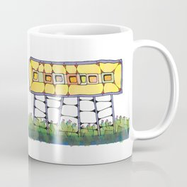 Funky yellow architectural design 51 Coffee Mug
