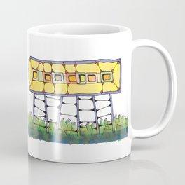 Funky yellow architectural design 51 Coffee Mug