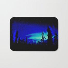 Aurora Borealis Forest Vibrant Bath Mat