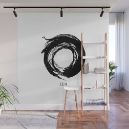 Zen Enso Circle Wall Mural