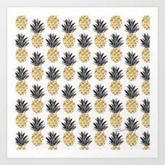 Vintage Pineapple Art Print