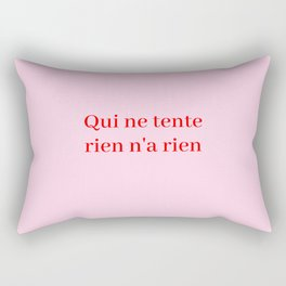 no pain no gain Rectangular Pillow