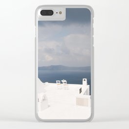 Santorini beautiful view Clear iPhone Case